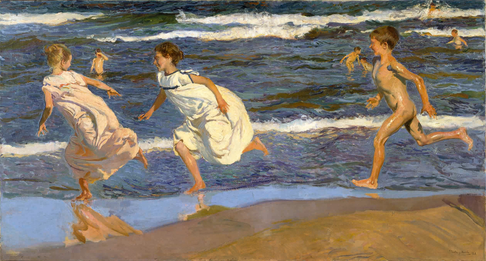 Corriendo por la playa, Joaquín Sorolla