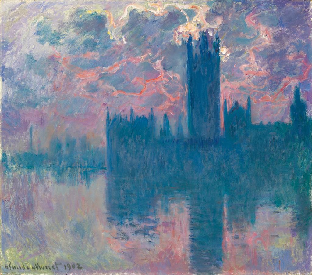 El Parlamento, sol poniente