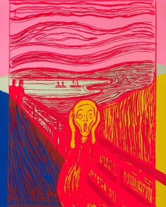 Warhol reinterpreta a Munch