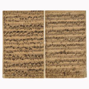 Sale al mercado una partitura autógrafa de Bach