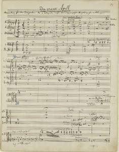 Una partitura de Mahler establece un record mundial en subasta