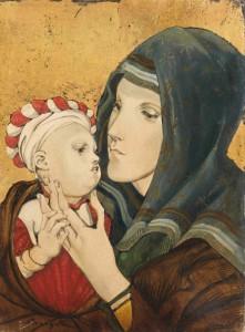 Foujita: devoto y maternal