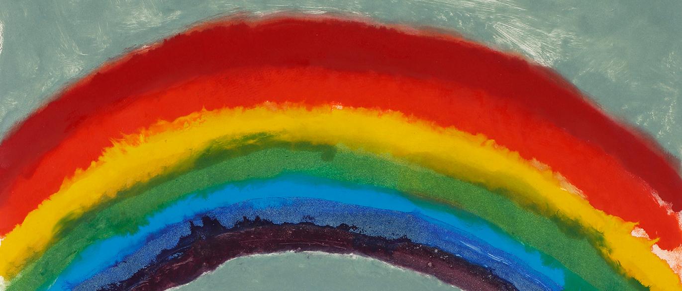 Marlborough-Graphics,-Kiff,-Bright-Rainbow,-Tree-and-Hills-(A1m),-1989,-monotype-1