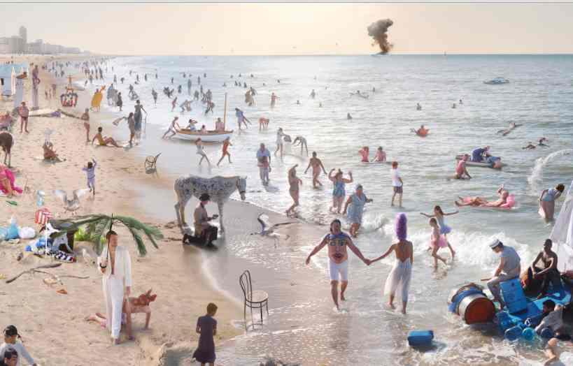 Los baños de Ostende © Athos Burez.[Fragmento]