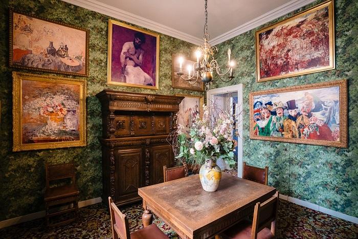 Detalle del interior de la Casa James Ensor