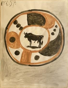 Pablo Picasso, Maqueta para cerámica. Jordi Pascual