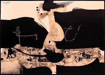 Manolo Millares, El picador. Galería Jorge Juan