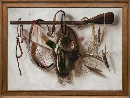 Christoffel Pierson, Naturaleza muerta con instrumentos de cetrería. Salomon Lilian