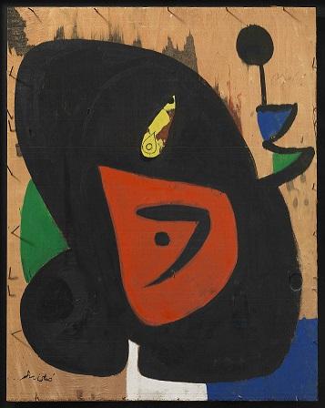 Joan Miró, Figure et oisseau, 1977. Mayoral