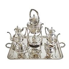 Juego de café y té en plata