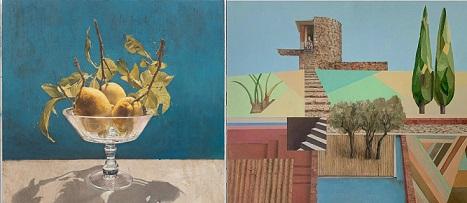 Galería Marlborough, Pedro Moreno-Meyerhoff, Limones en fuente de cristal; Sala Parés, Miguel Rasero, Sin título